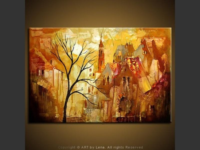 Old Town - contemporary painting