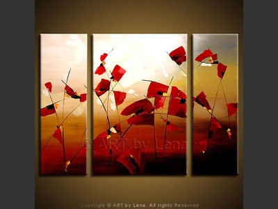 Flanders Fields - original canvas painting by Lena