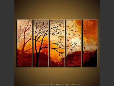 I Will Be Waiting… - original canvas painting by Lena