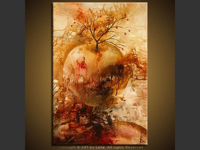 All Started With An Apple… - original painting by Lena Karpinsky