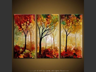 Colors of the Fall - original canvas painting by Lena