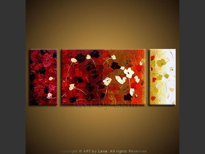 Spring Hill Flowers - contemporary painting