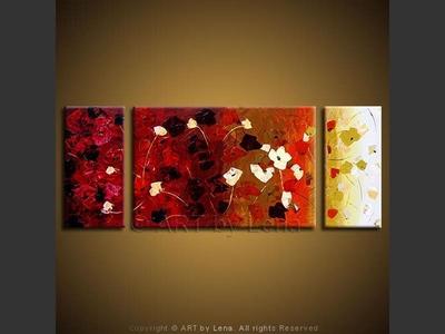 Spring Hill Flowers - original painting by Lena Karpinsky