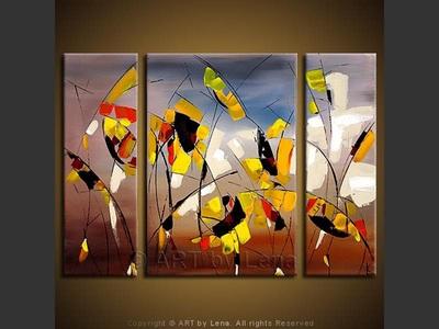Prairies in the Fall - original painting by Lena Karpinsky