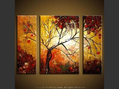 Rain On My Window - original canvas painting by Lena