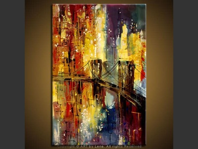 The Brooklyn Bridge - modern artwork