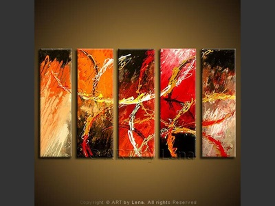 Chariots of Fire - contemporary painting