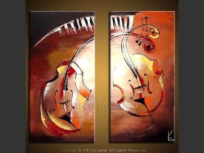 Romantic Duo - modern artwork