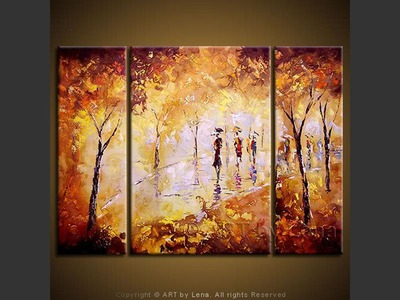 Park in the Fall - contemporary painting