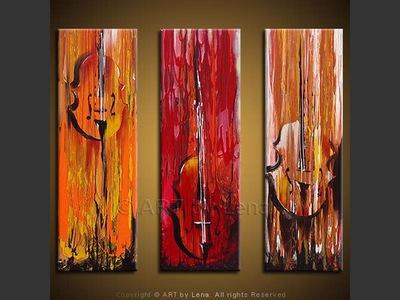 String Trio - original painting by Lena Karpinsky