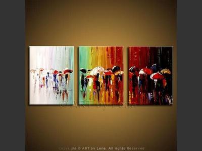 Rain Line - original painting by Lena Karpinsky
