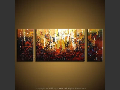Summer Night Dreams - original canvas painting by Lena