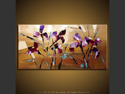 Irises - contemporary painting