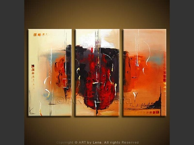 Contrabass - contemporary painting