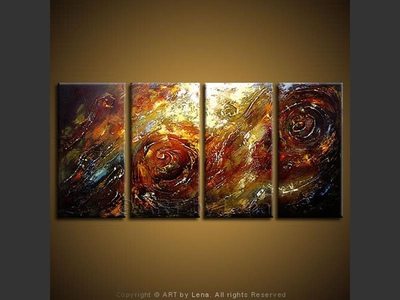 Galactic Twirls - original canvas painting by Lena