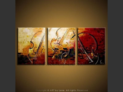 Concertmeisters - original painting by Lena Karpinsky