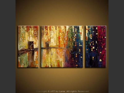 The Sea of Lights - original painting by Lena Karpinsky