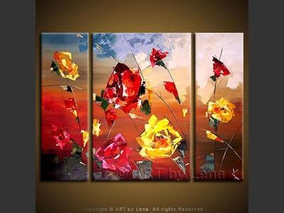 Sunset Roses - original painting by Lena Karpinsky