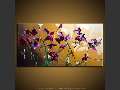 Morning Irises - modern artwork