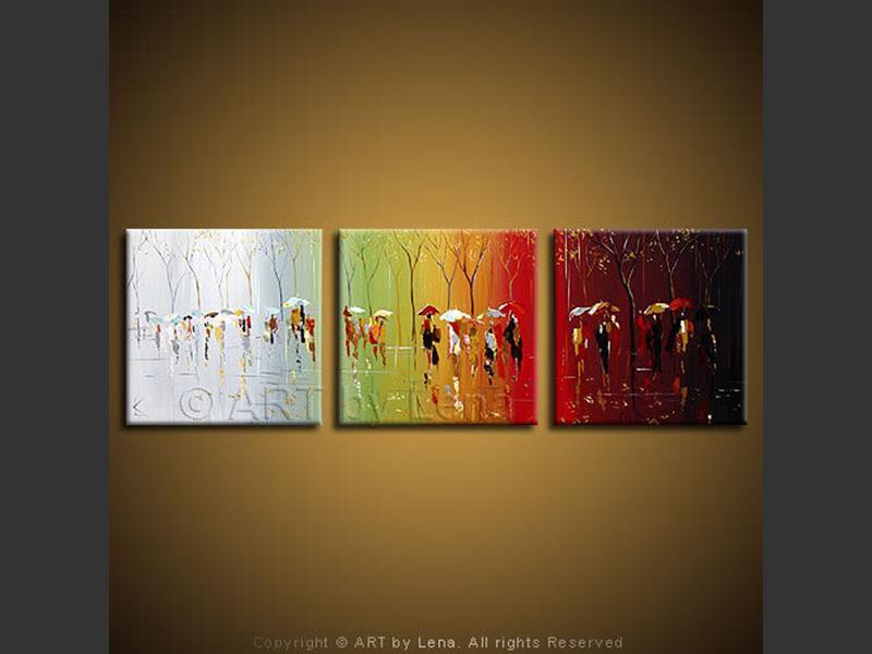Rainbow Rain - wall art