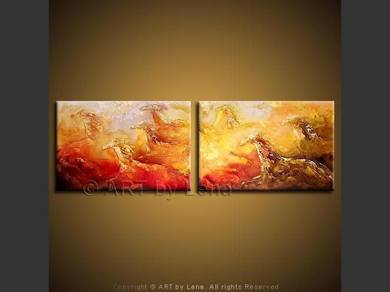 Gold and Fire - wall art