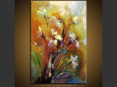 Fleurs Pour Toi - original canvas painting by Lena