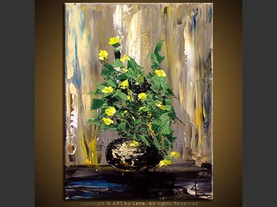 Bouquet: Yellow - home decor art