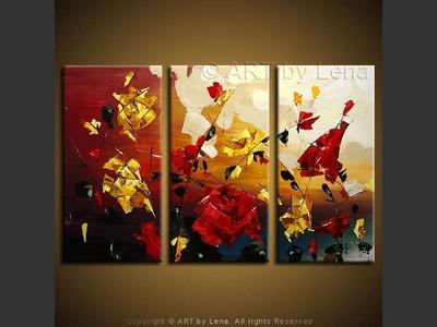 Rose Valley - original painting by Lena Karpinsky