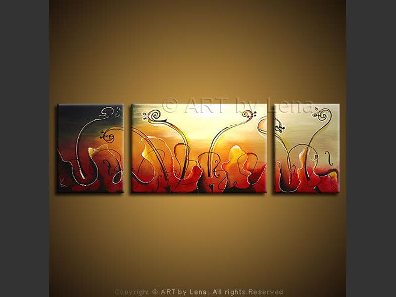 Swan Lake - original canvas painting by Lena