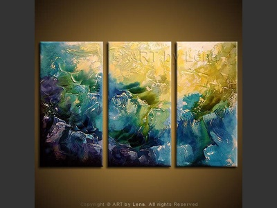 Stormy Sea - original canvas painting by Lena