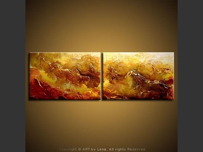 Mustangs - original canvas painting by Lena