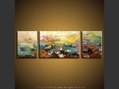 Water Lilies - modern artwork