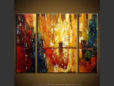 Shining Manhattan - original canvas painting by Lena
