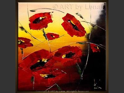 Poppies - original painting by Lena Karpinsky