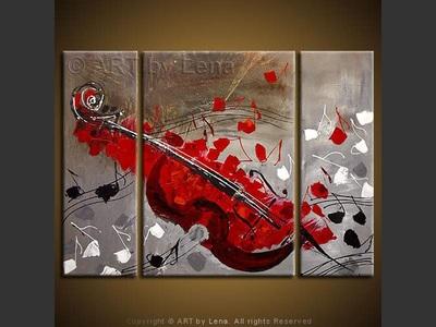 Red Cello - modern artwork