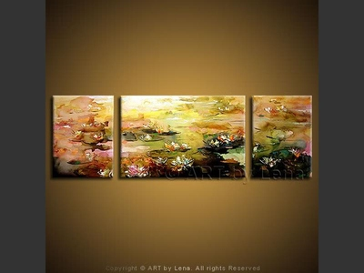 Pink Water Lilies - art for sale