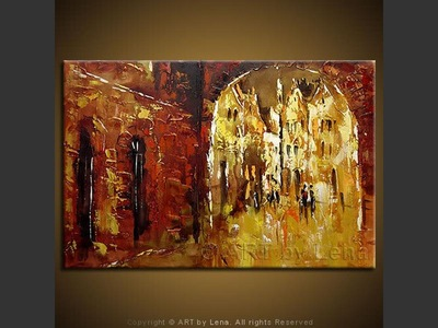 The Old Arch - original painting by Lena Karpinsky