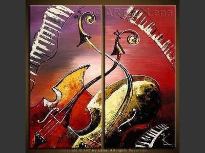 Duet for Julia - original canvas painting by Lena
