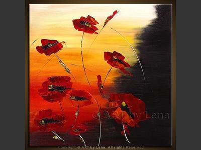 Le Rouge et le Noir - original canvas painting by Lena