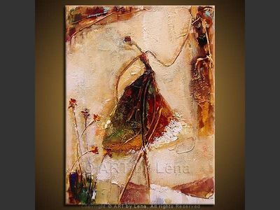 Debut - original canvas painting by Lena
