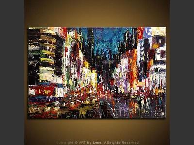 Shanghai Nights - original painting by Lena Karpinsky