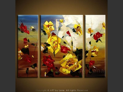 The Yellow Rose of Texas - modern artwork