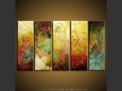 Reliefs - original canvas painting by Lena