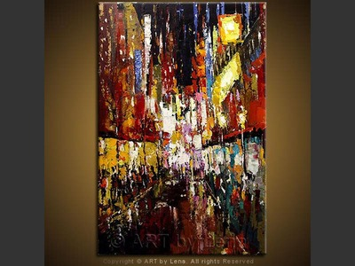 Night Market - original painting by Lena Karpinsky