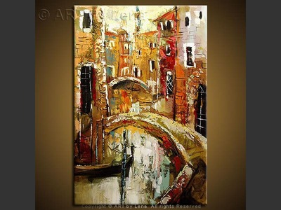Venice - original canvas painting by Lena