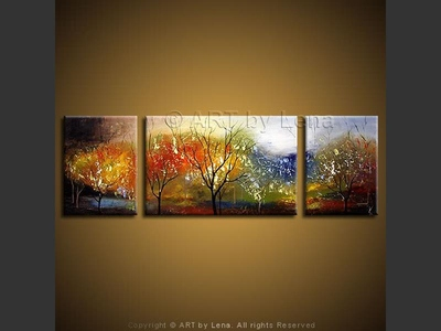 Cherry Orchard - original canvas painting by Lena