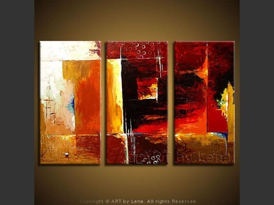 World With Different Axioms - original canvas painting by Lena