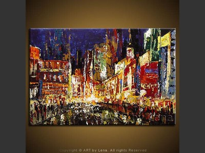The Bay Street - original painting by Lena Karpinsky