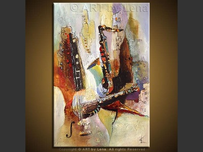 Rhythm 'n Jazz - original painting by Lena Karpinsky