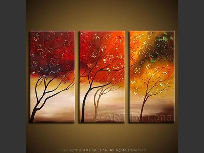 Autumn Wind - original painting by Lena Karpinsky